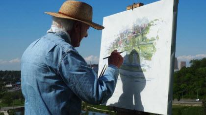 La importancia del ocio en las personas mayores - pintando un cuadro