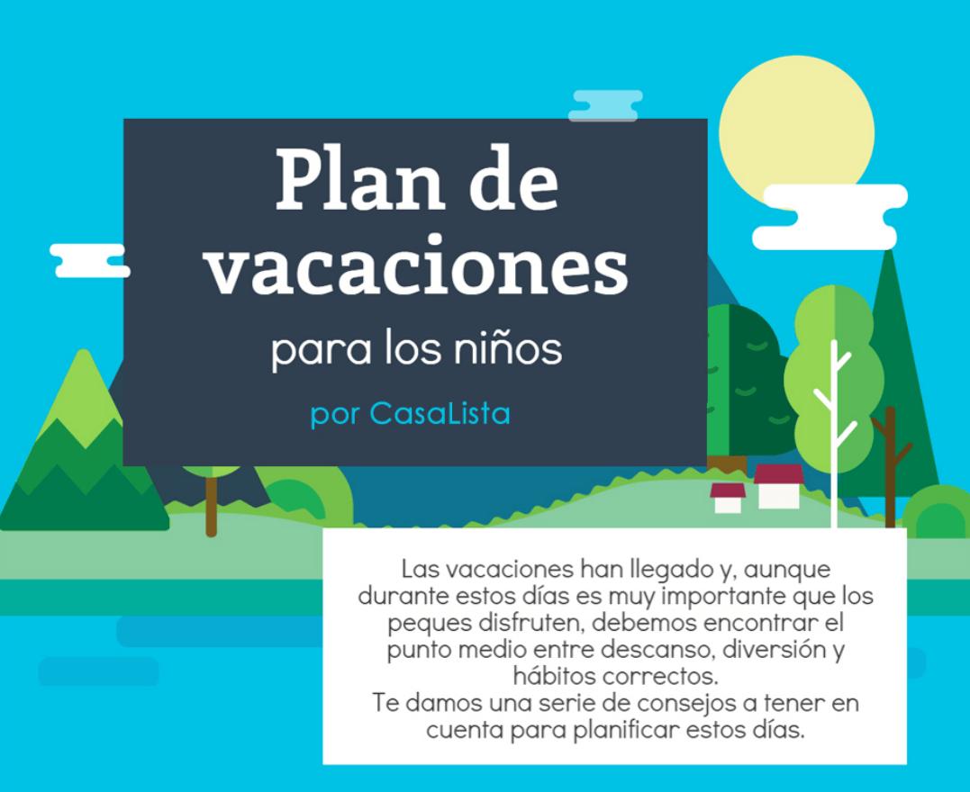 Plan de vacaciones para los niños