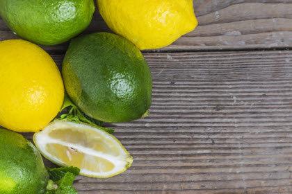 limones verdes y amarillas