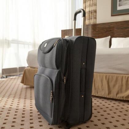 despido del servicio doméstico - maleta lista en el salón