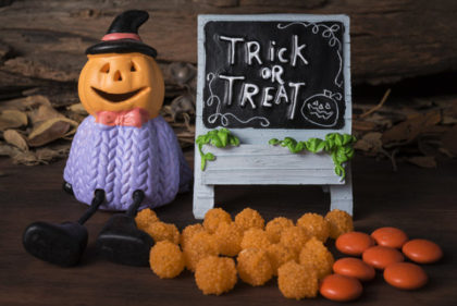 Halloween figura con golosinas