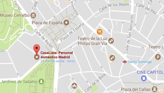 mapa casalista agencia de empleadas de hogar madrid